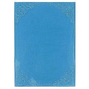 Placa de Textura Emboss 13 cm x 18 cm Moldura Arabesco