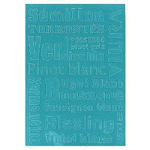 Placa de Textura Emboss 12,9 cm x 18,4 cm Tipos de Vinho