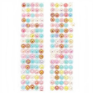 Adesivo Chaton Decorativo Cristal Colorido 100 Unidades