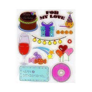 Kit Carimbos em Silicone Emoji Aniversário 13 Peças