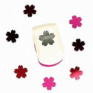 Furador para Papel 25 mm Flor Sakura