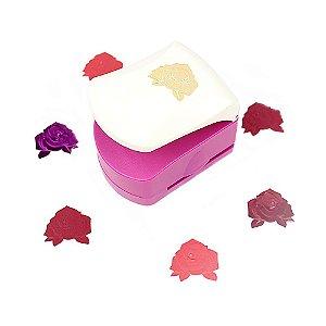 Furador para Papel 32 mm Rosa Emboss
