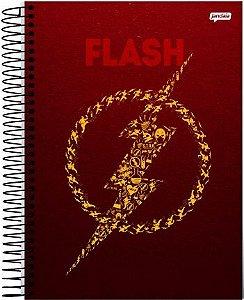 CADERNO FLASH DC COMICS LIGA DA JUSTIÇA MEDIO 1/4 ESPIRAL 96 FLS