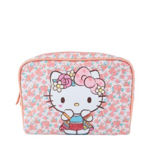 NECESSAIRE HELLO KITTY FUNDO ROSA 23,5 X 6,5 X 17 CM