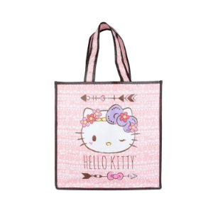 SACOLA HELLO KITTY  PURPLE LACE FD ROSA 40 X 15 X 40 CM