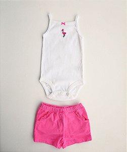 Conjunto body shorts e blusa