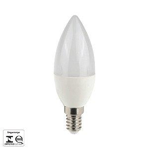 Lâmpada LED 4,5W  Vela Lisa Fosca E14   320LM BIVOLT LP016C