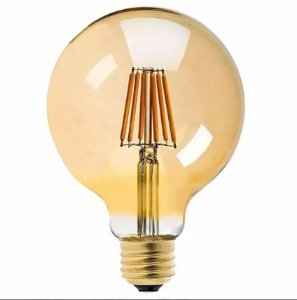 Lâmpada Filamento Led Ballon G80 Retrô 4w 5w Vintage Âmbar