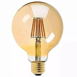 Lâmpada Filamento Led Ballon G95 Retrô 6w Vintage Âmbar
