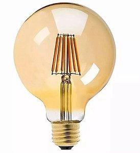 Lâmpada Filamento Led Ballon G125 Retrô 6w Vintage Âmbar
