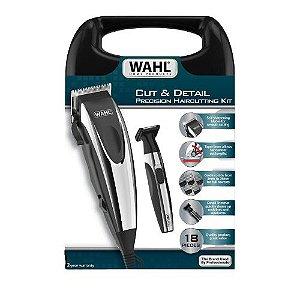 Kit Máquina de Cortar Cabelo e Aparador Wahl Cut & Detail - 110v - Dois Anos de Garantia