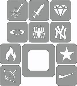 Molde Para Desenho Capilar Freestyle II (Pacote Com 10 Unidades)