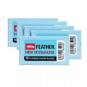 Lâmina de Barbear Platinum Feather - 600 Unidades (10 cartelas com 6 caixinhas)