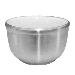 Saboeira Térmica de Porcelana Revestida em Alumínio para  Barbear