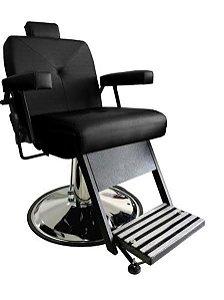 Cadeira de Barbeiro Reclinável São Paulo S.A. (Base e Pé Pretos)