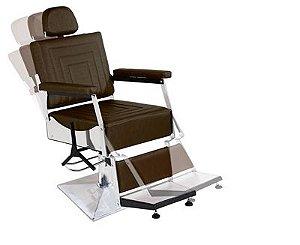 Cadeira de Barbeiro Reclinável São Salvador - Pé Quadrado