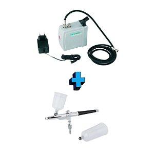 Aerógrafo com Compressor Wimpel - Kit Completo - (Bivolt)