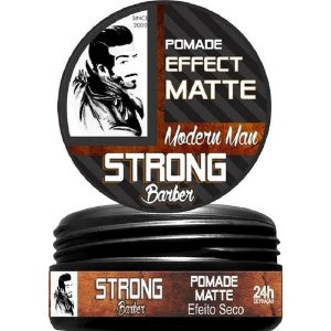 Pomada Modeladora Strong Barber Efeito Matte (150g)