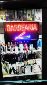 Placa Led de Barbearia - 110v