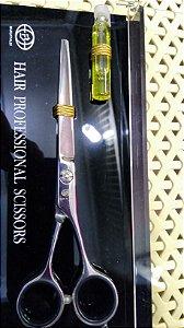 "Tesoura Hair Professional Scissors - Fio Navalha - 6"" - Made in Italy"