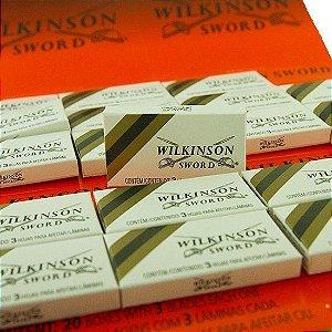 Lâmina de Aço Wilkinson - 3 Cartelas - 60 Caixinhas