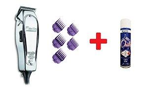 Combo: Andis Fade Master + Jogo 5 Pentes Magnéticos Roxos + Brinde Resfriador Chill (5 em 1)