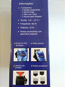 Máquina de Cortar Cabelo Profissional Superbarba - 110v - 10W - HC868-3