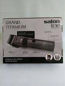 Máquina de Corte e Acabamento Grand Titanium - Sem Fio - Bivolt - Salon Line