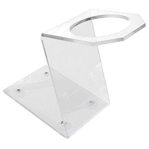 Suporte para Secador - Acrílico - Transparente - Com Ventosas