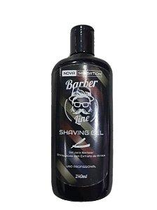 Shaving Gel Barber Line - Enriquecido com Extrato de Arnica (240ml)