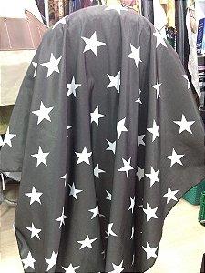 Capa para Barbearia - Estrelas - Tafetá - Grande - Botões