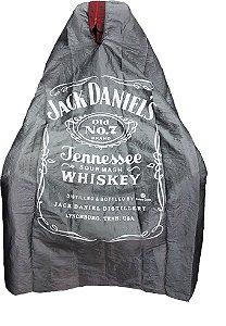 Capa de Corte em Tafetá - Jack Daniels - Tam. Adulto (Padrão) - disponível com zíper preto