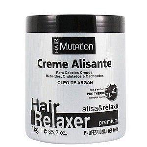 Creme Alisante Relaxante Hair Mutation com Óleo de Argan - Premium - 1kg