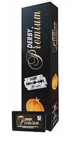 Lâmina de Barbear Derby Premium - 20 Caixinhas com 5 Lâminas (100 Lâminas)