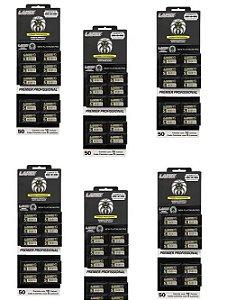 Lâmina de Barbear Lamix Premier Profissional - 6 Cartelas com 50 Lâminas (300 Lâminas)