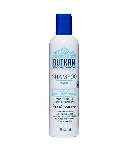 Shampoo (300ml) + Condicionador (300ml) Butkam - Linha Reconstrutora Profissional - Sem Sal