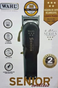 Máquina de Corte Wahl Senior Cordless Bivolt (GRÁTIS Resfriador de Lâminas Chill 5 em 1)