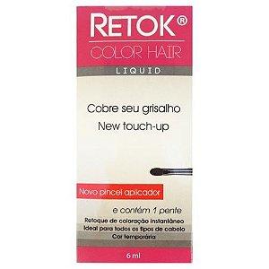 Retok Color Hair Líquido - Cobre seu Grisalho - Castanho médio - 6ml - Anaconda Cosméticos