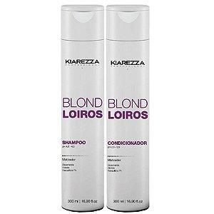 Kit Matizador Shampoo + Condicionador Kiarezza - Blond Loiros - 300ml + 300ml