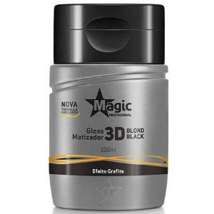 Gloss Matizador 3D Blond Black - Efeito Grafite - Magic Color - 100ml