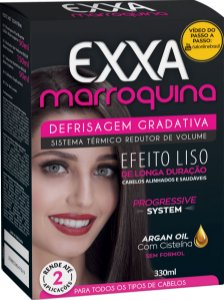 Kit Salon Line Exxa Defrisagem Gradativa Marroquina - 330ml