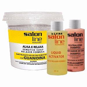 Alisa E Relaxa Guanidina Cabelos Grossos - Salon Line - 215g