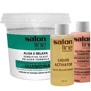 Salon Line Alisa e Relaxa com Guanidina - Regular - 218g