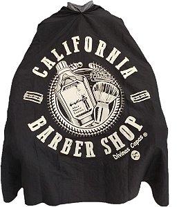 Capa de Corte em Tafetá Califórnia Barber Shop - Tam. Adulto (Padrão)