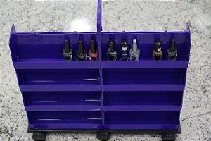 Carrinho Plástico Expositor Para 160 Esmaltes - Santa Clara