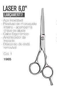 """Tesoura Profissional para Cabelo Vertix Fio Laser 6"""" (ref.1965)"""