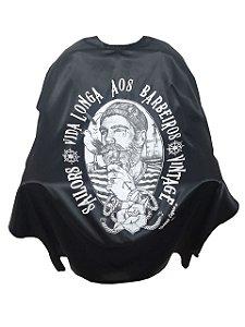 Capa Gigante para Barbearia Marujo - Cetim Gramatura Grossa com Elastano - Zíper