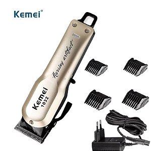Máquina de Corte Profissional Kemei KM-1032 - Sem Fio (Ideal para Tricotomia)