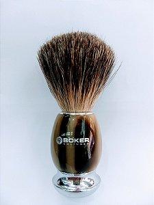 Pincel de Barbear de Chifre e Pelos de Texugo - Böker / Solingen - USA