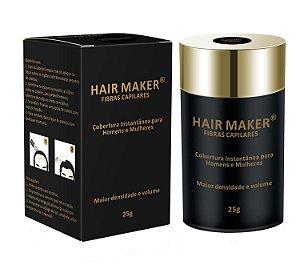 Hair Maker Fibras Capilares - Cobertura Instantânea, Densidade e Volume (castanho escuro) - 25g